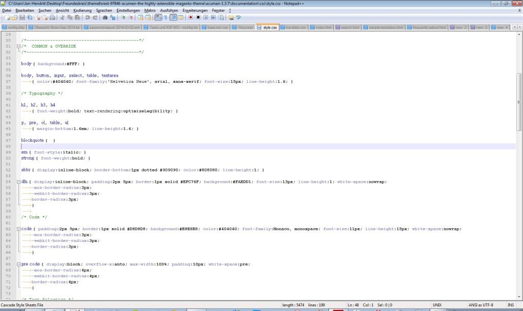 Notepad++ ist ein kostenloser Text Edior für gehobene Ansprüche