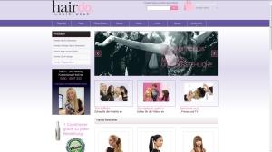 Die Startseite des neuen Magento-Shops auf hairdo-extensions.de - Slider, Teaser, Menü, Produkte und Informationsseiten schnell erreichbar